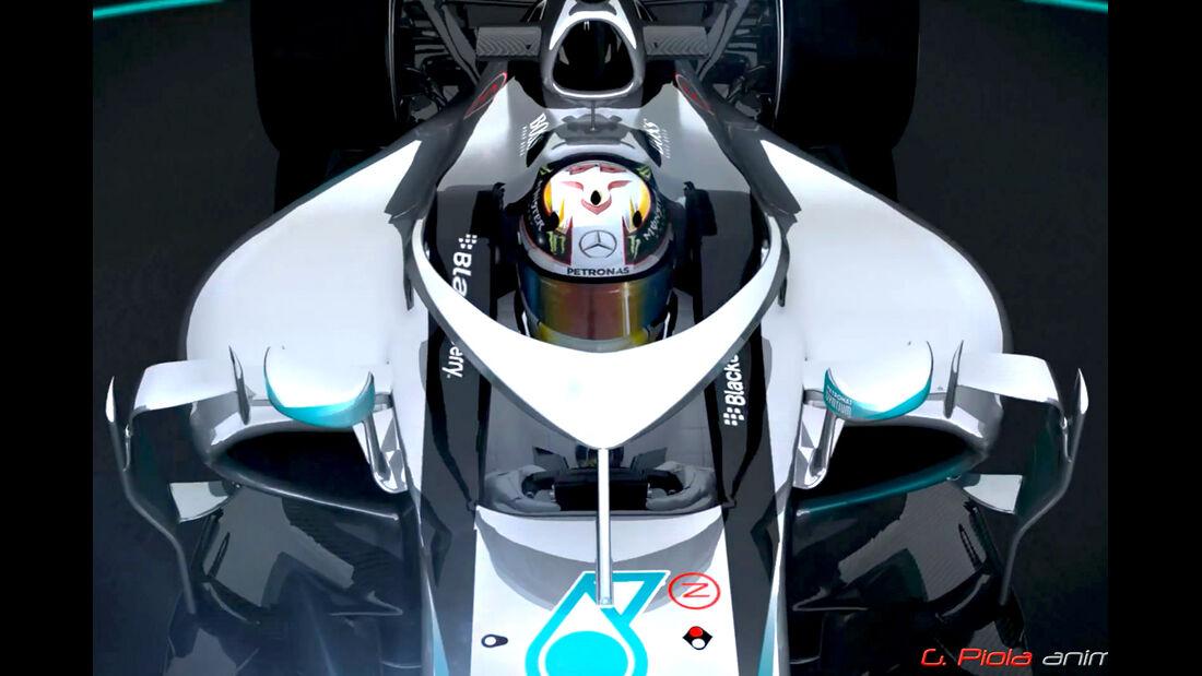 Formel 1 Cockpitschutz - Piola Animation 2015