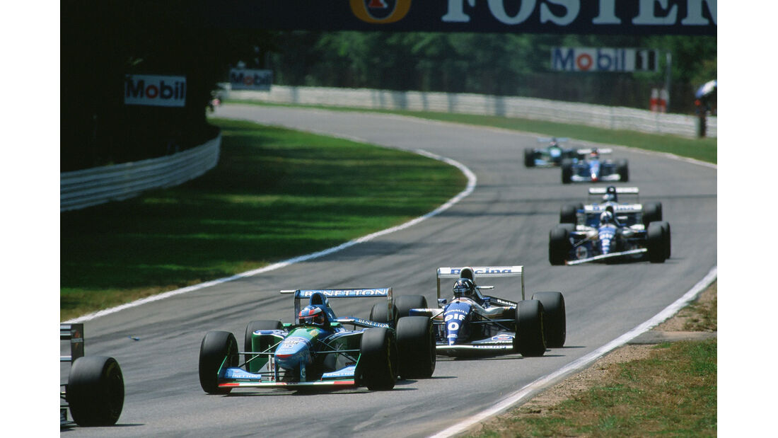 Formel 1 - F1 - F1-Saison 1994 - GP Hockenheim 1994 - Schumacher - Benetton-Ford B194 - Hill - Williams FW16