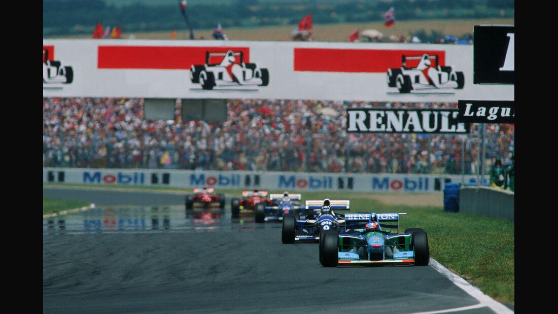 Formel 1 - F1 - F1-Saison 1994 - Schumacher - Benetton-Ford B194 - Hill - Williams FW16 - GP Frankreich 1994