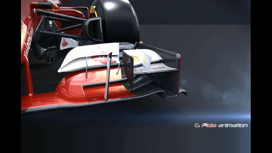 Formel 1 - F1 - Ferrari - Ferrari SF15-T - Piola Animation - GP Australien 2015
