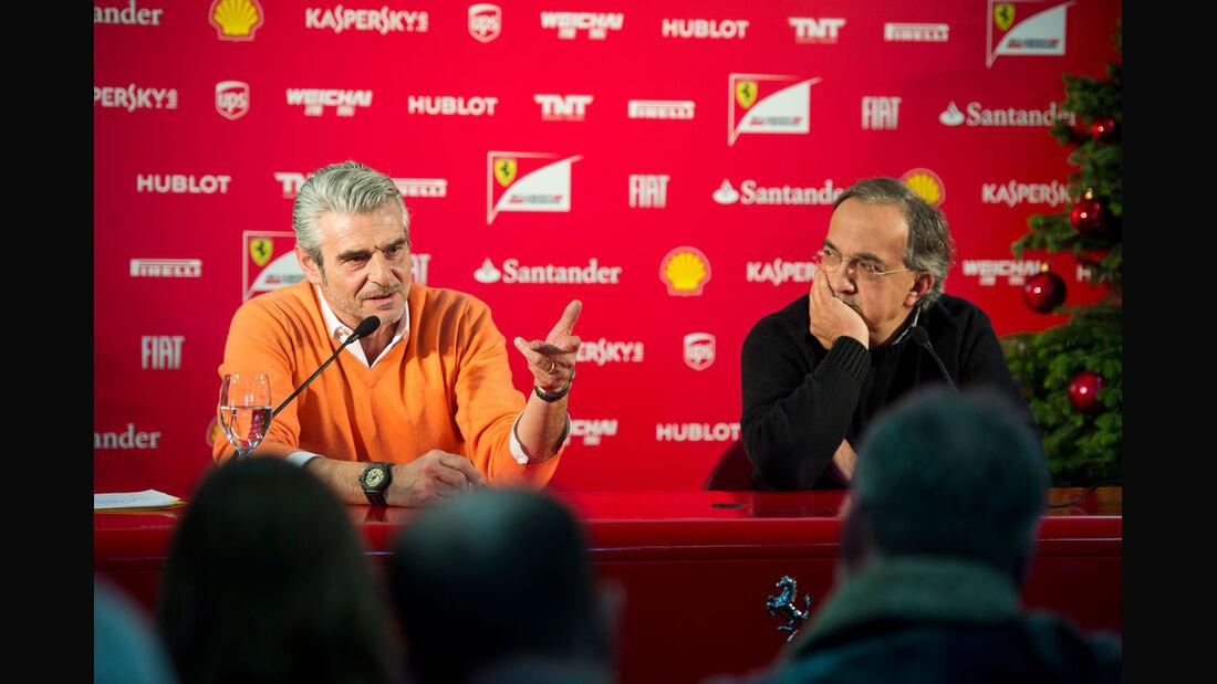 Formel 1 - F1 - Ferrari - Maurizio Arrivabene - Sergio Marchionne