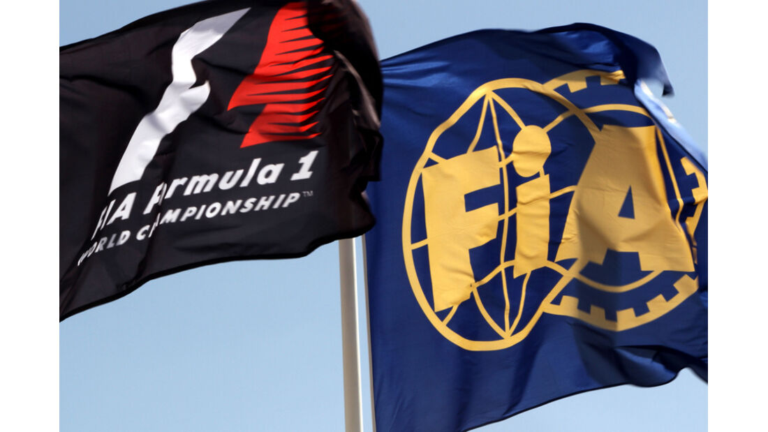 Formel 1 & FIA-Flagge - GP Abu Dhabi - 10. November 2011