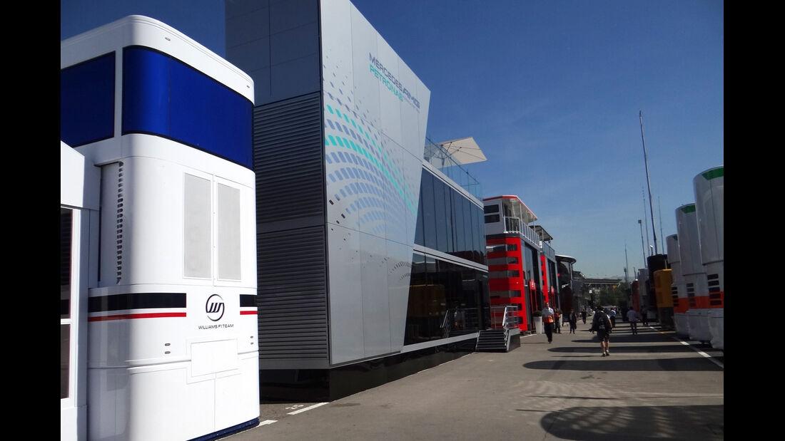 Formel 1 Fahrerlager GP Spanien 2012 Motorhomes