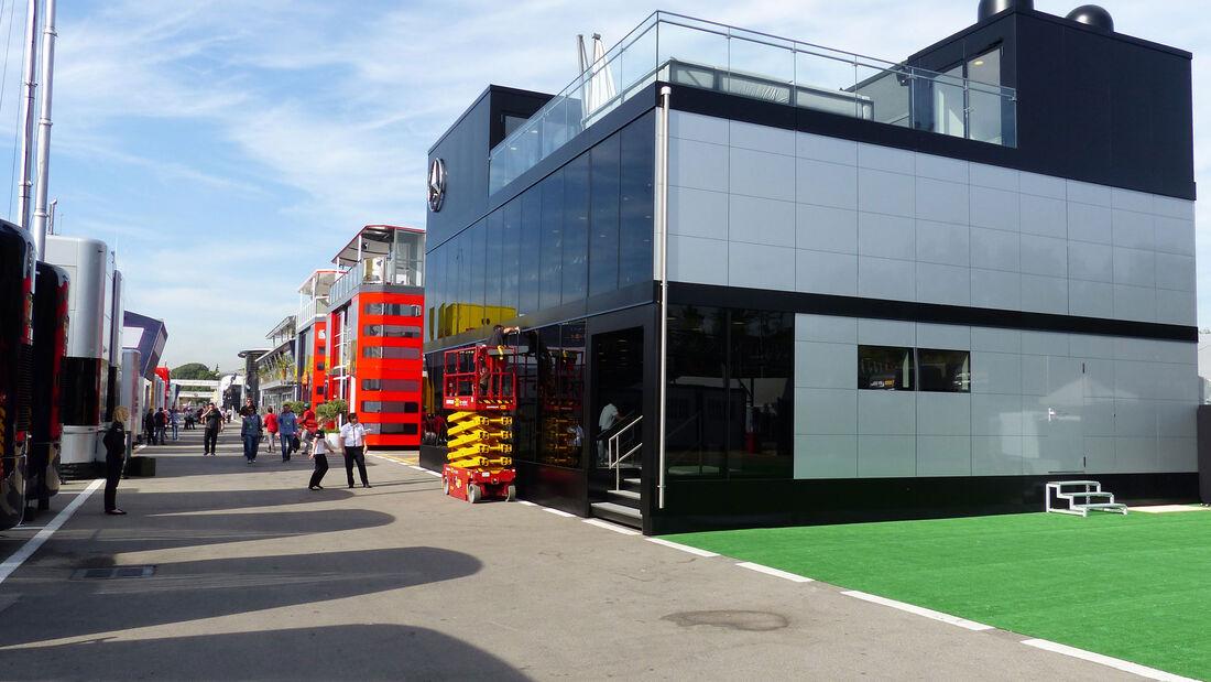 Formel 1 - Fahrerlager - GP Spanien 2015 - Motorhomes
