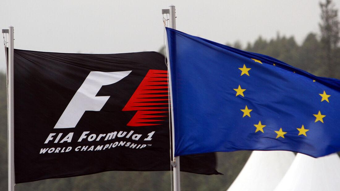 Formel 1-Flagge & Europa-Flagge