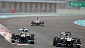 Formel 1 GP Abu Dhabi Lewis Hamilton Esteban Gutierrez 2013