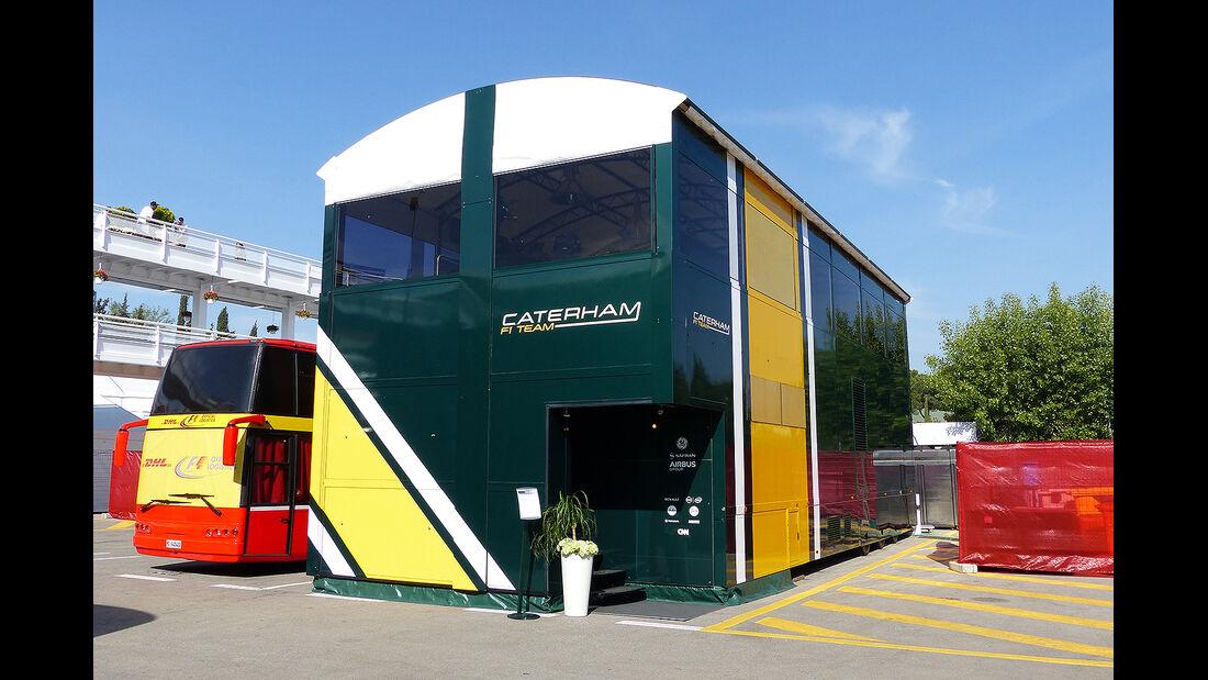 Formel 1 - GP Barcelona 2014 - Motorhomes - Caterham