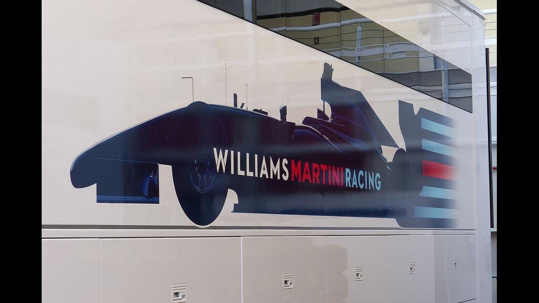 Formel 1 - GP Barcelona 2014 - Motorhomes - Williams Martini