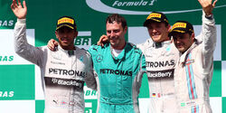 Formel 1 - GP Brasilien 2014 - Nico Rosberg - Lewis Hamilton - Felipe Massa