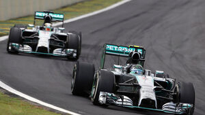 Formel 1 - GP Brasilien 2014 - Nico Rosberg - Lewis Hamilton