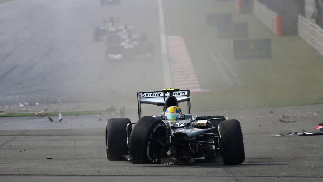 Formel 1 GP China 2013 Esteban Gutierrez Unfall