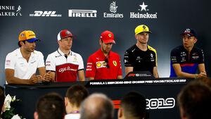 Formel 1 - GP Deutschland 2019 - Hockenheim - Fahrer-Pressekonferenz