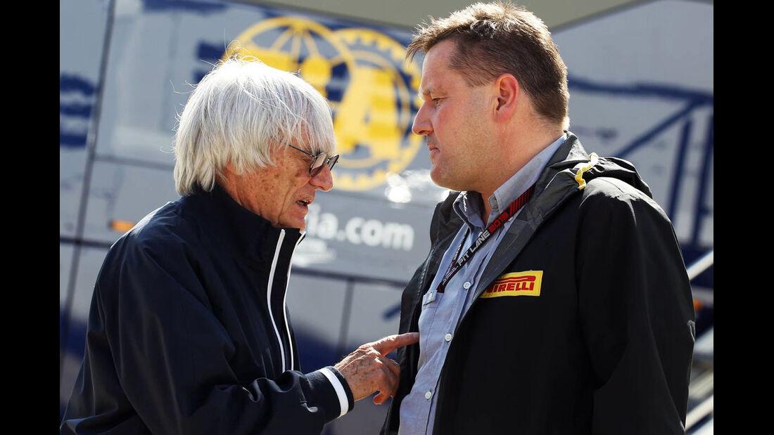 Formel 1 GP England 2013 Bernie Ecclestone Paul Hembery