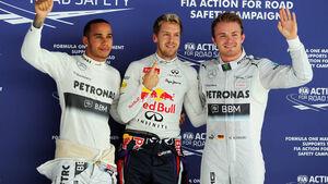 Formel 1 GP Indien 2013 Sebastian Vettel Lewis Hamilton Nico Rosberg