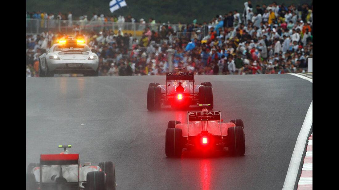 Formel 1 GP Korea 2010 Bremslicht
