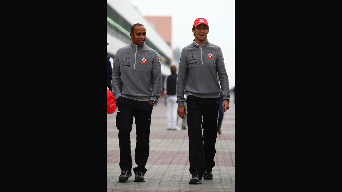 Formel 1 GP Korea 2010 Button Hamilton