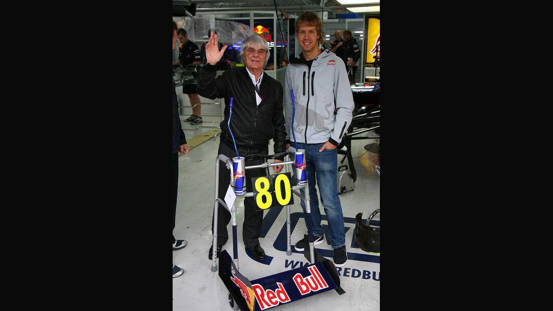 Formel 1 GP Korea 2010 Ecclestone Vettel
