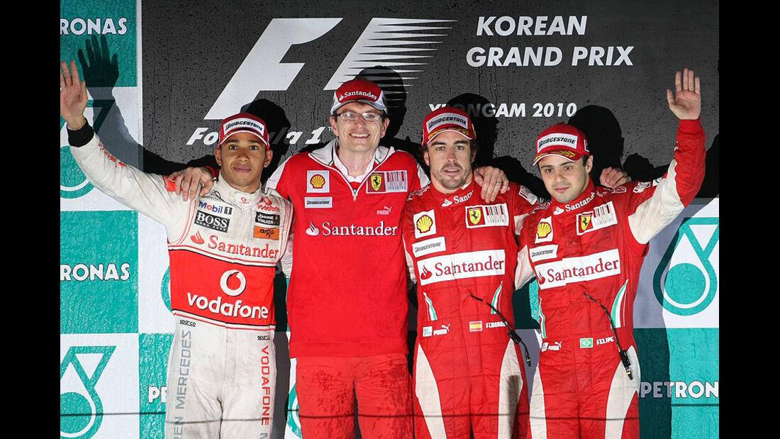 Formel 1 GP Korea 2010 Podium