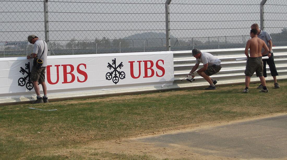 Formel 1 GP Korea 2010 Strecke Malerarbeiten