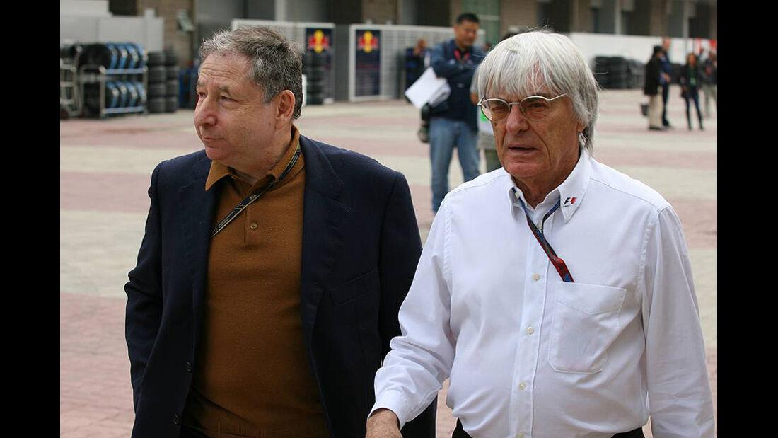 Formel 1 GP Korea 2010 Todt Ecclestone