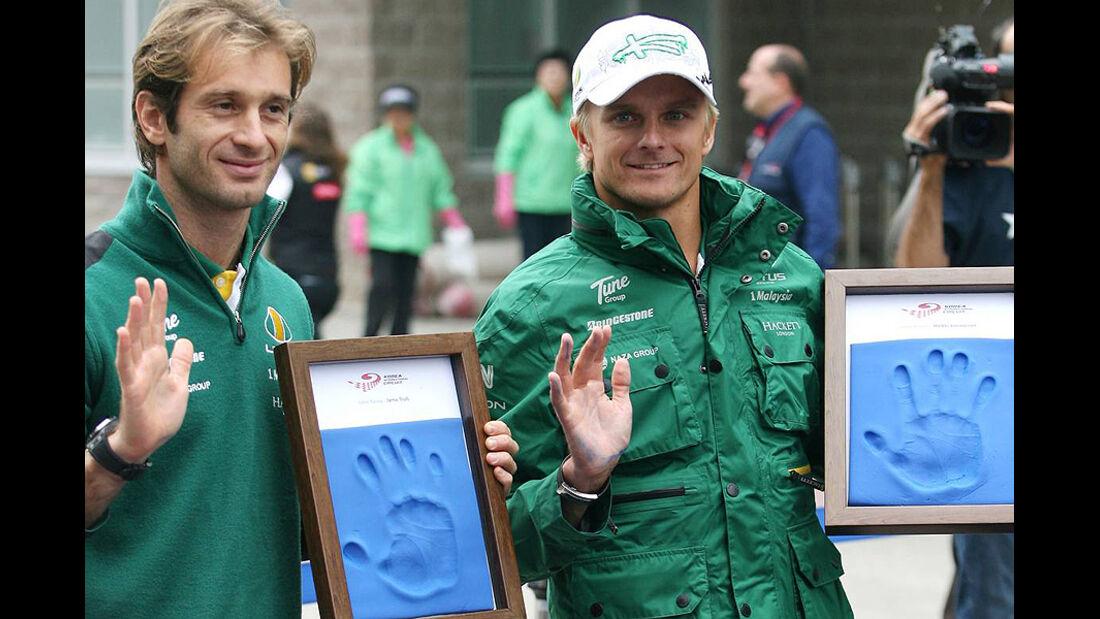 Formel 1 GP Korea 2010 Trulli Kovalainen