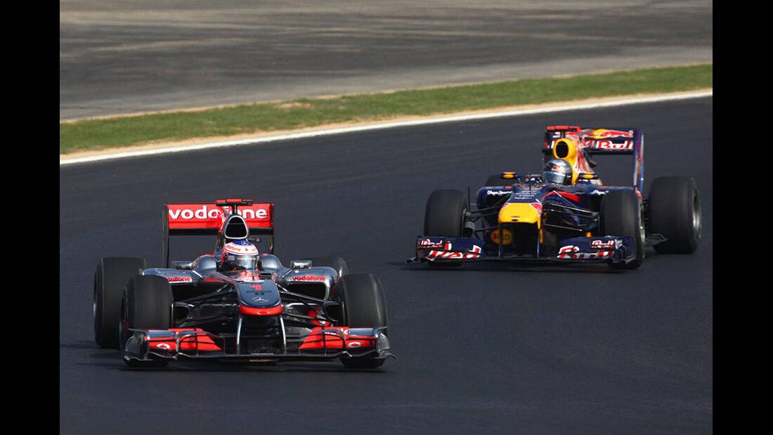 Formel 1 GP Korea 2010 Vettel Button