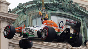 Formel 1 GP Monaco 2013 Crash Adrian Sutil
