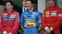 Formel 1 GP Monaco Martin Brundle Michael Schumacher Gerhard Berger