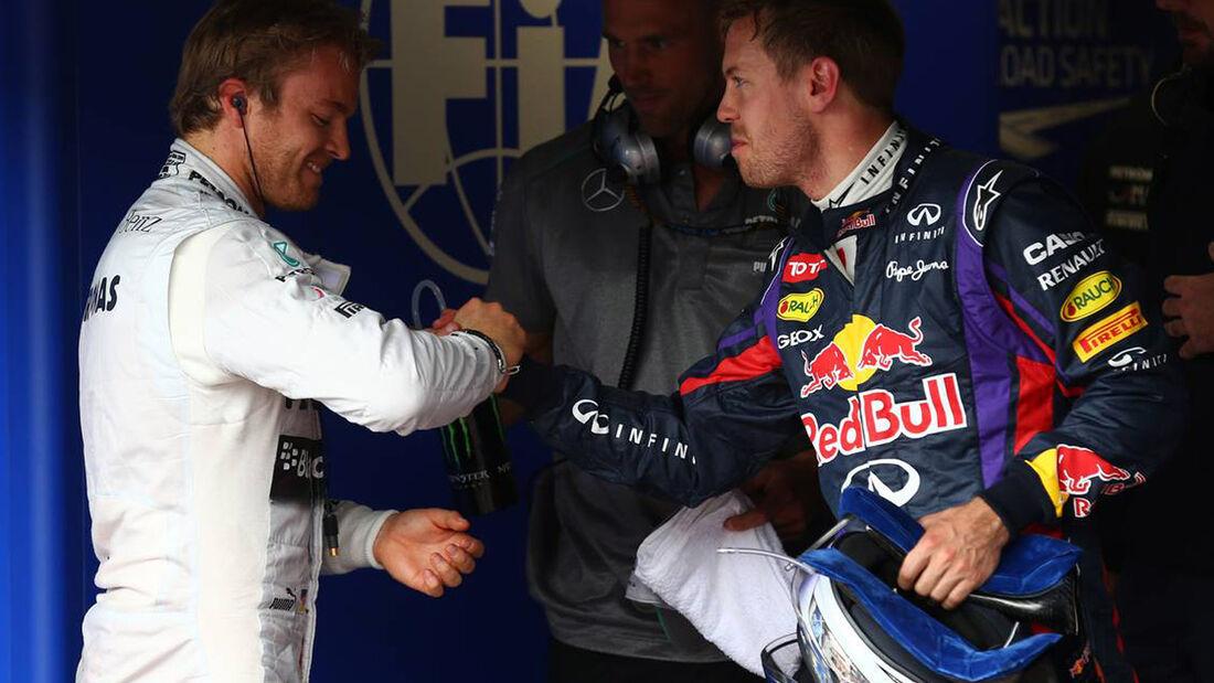 Formel 1 GP Monaco Sebastian Vettel Nico Rosberg