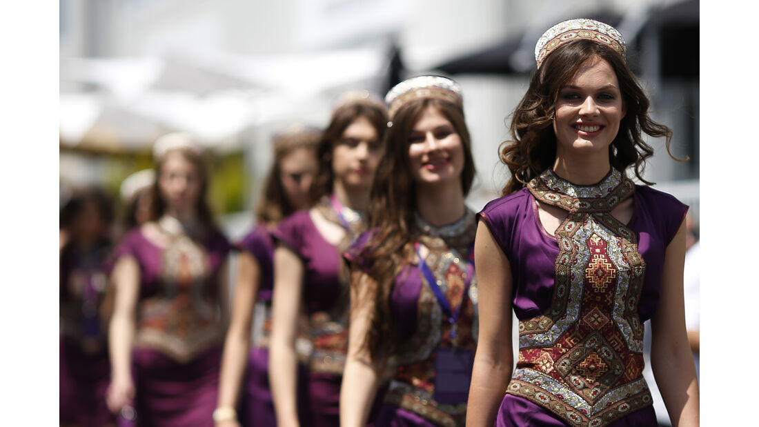 Formel 1 Girl - Baku - Aserbaidschan 2016