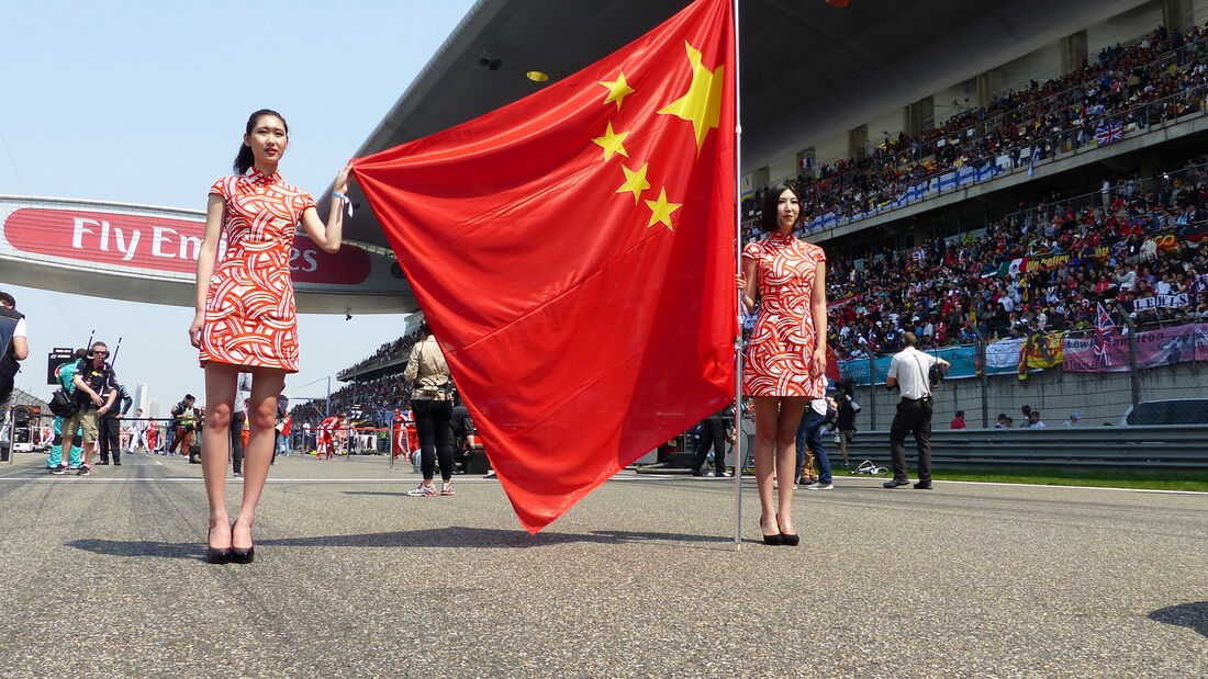 Formel 1 - Grid Girls - Grand Prix von China 2015