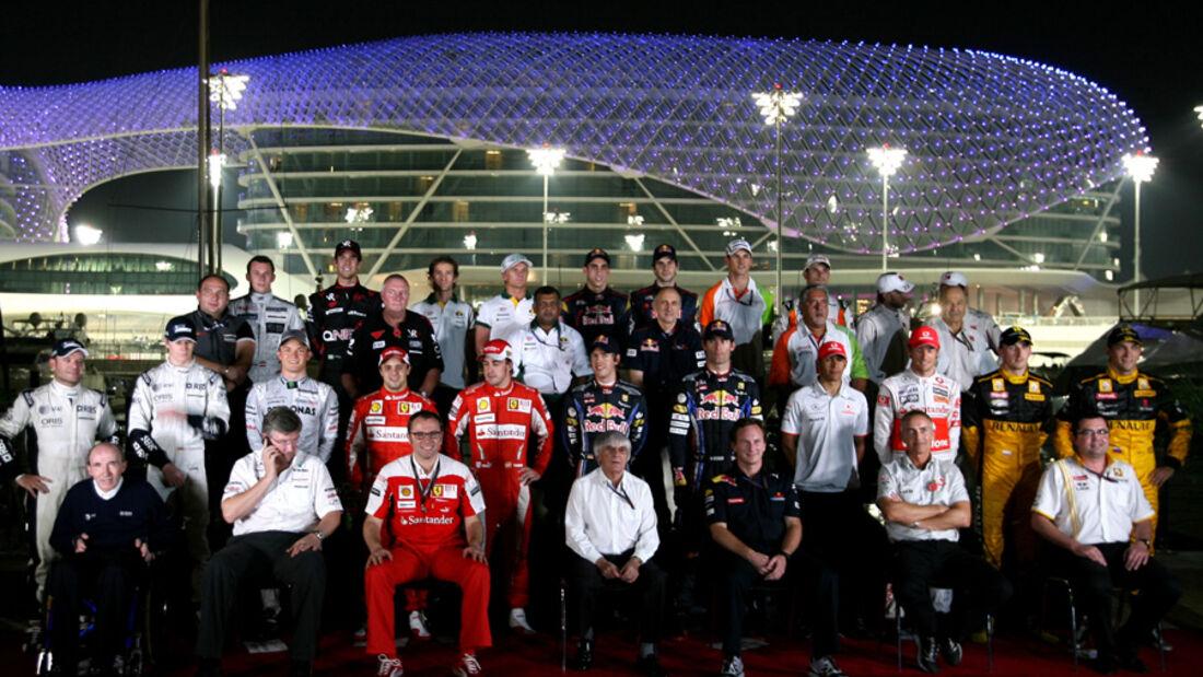 Formel 1-Gruppenfoto Abu Dhabi 2010