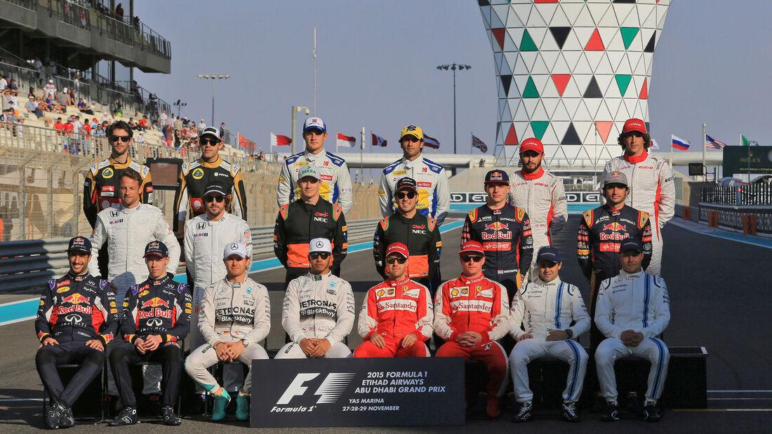 Formel 1 - Gruppenfoto - Abu Dhabi 2015