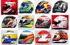 Formel 1 - Helm-Collage 2015