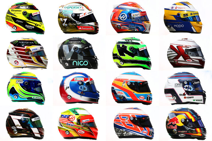 Formel 1 - Helme - 2016 - Collage