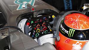 Formel 1, Lenkrad, Knöpfe