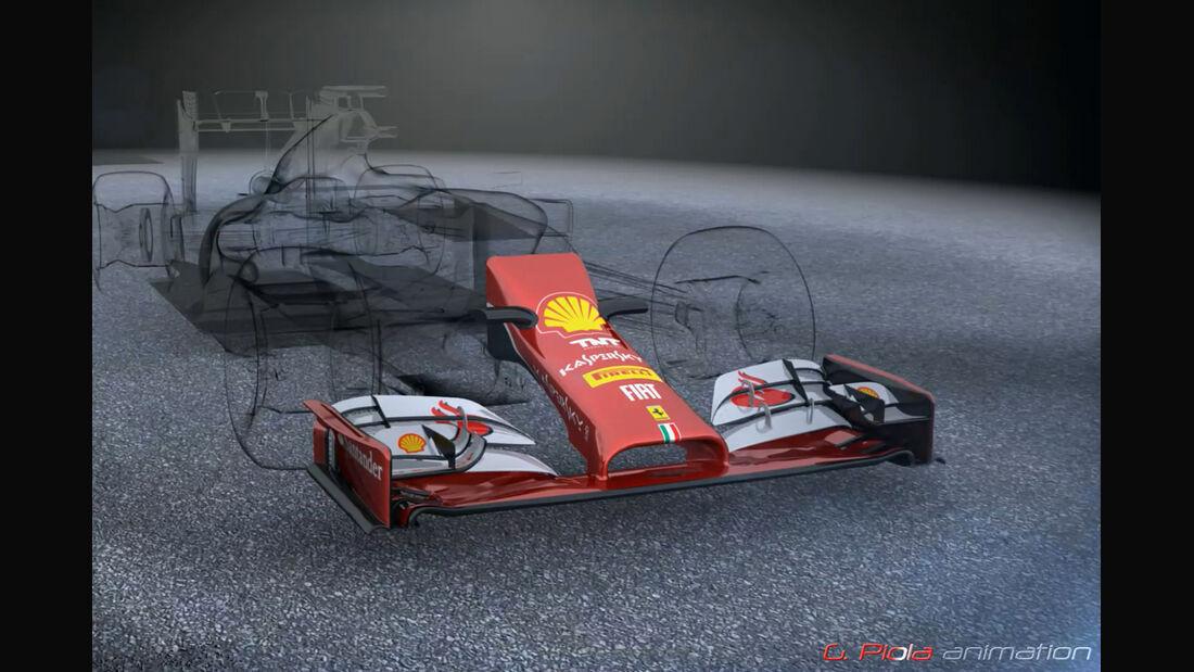 Formel 1 - Nase 2015 - F1-Technik - Piola Animation