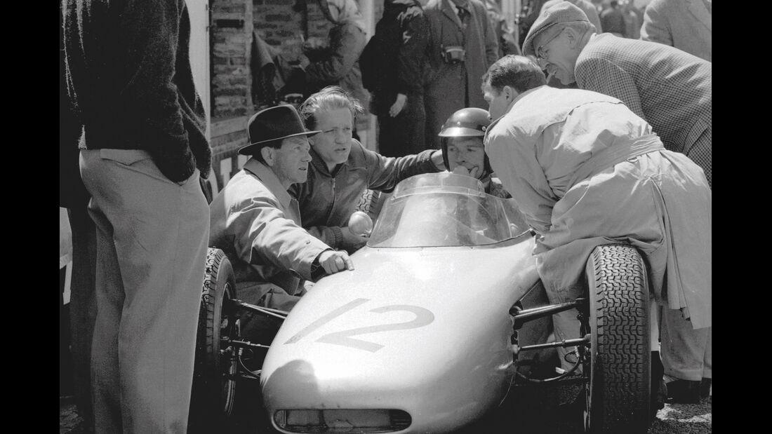 Formel 1-Porsche 804, Ferry Porsche, Helmut Bott, Dan Gurney, Joakim Bonnier, Huschke von Hanstein