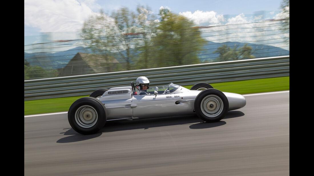 Formel 1-Porsche 804, Seitenansicht