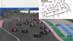 Formel 1 - Portimao - Speedvergleich - Geschwindigkeiten