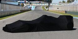 Formel 1 - Präsentation - Auto verhüllt
