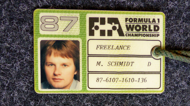 Formel 1 Presse-Akkreditierung Saison 1987