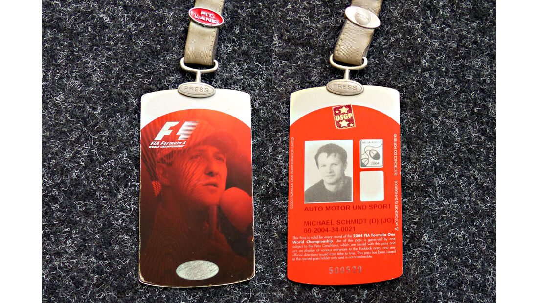 Formel 1 Presse-Akkreditierung Saison 2004