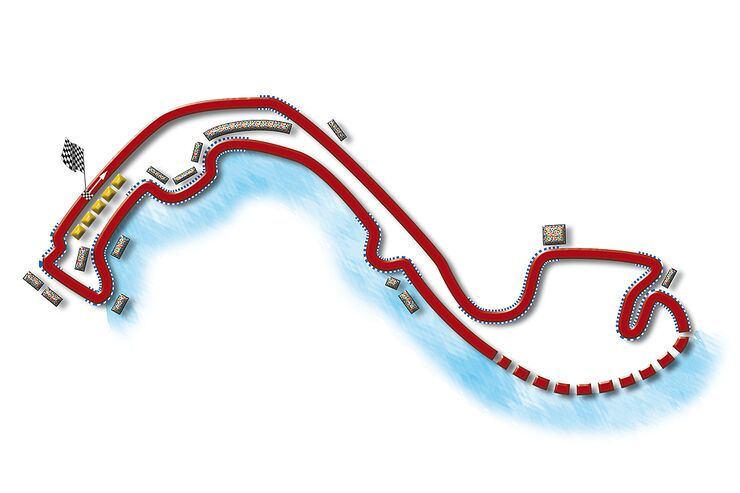 Formel 1- Rennstrecke Monaco