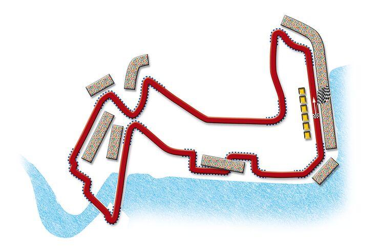 Formel 1- Rennstrecke Singapur