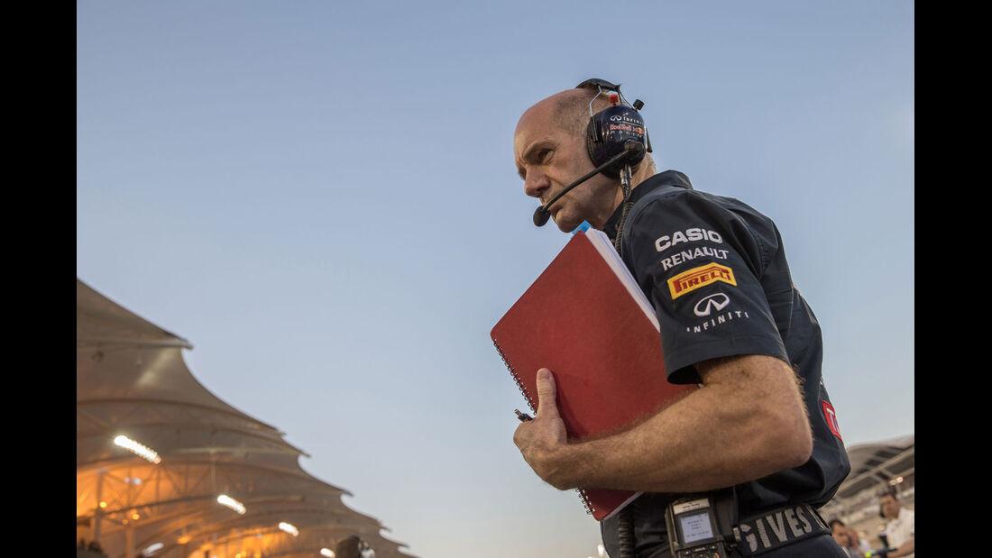 Formel 1 - Saison 2014 - GP Bahrain - Newey - Red Bull