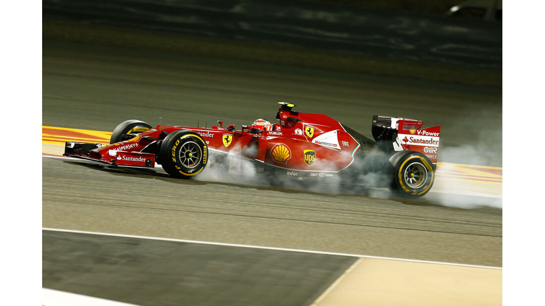 Formel 1 - Saison 2014 - GP Bahrain - Räikkönen - Ferrari