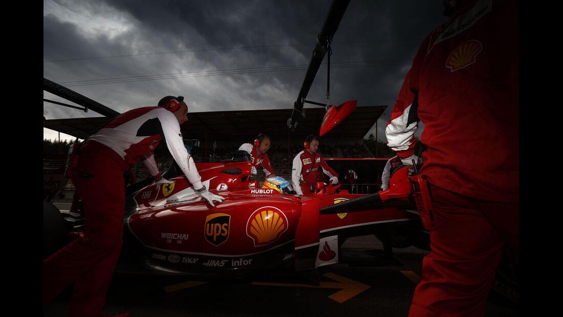 Formel 1 - Saison 2014 - GP Belgien - Alonso - Ferrari