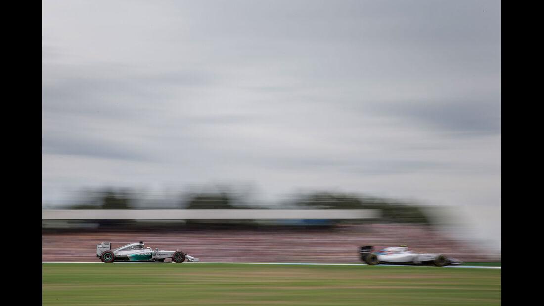 Formel 1 - Saison 2014 - GP Deutschland - Hamilton - Mercedes - Bottas - Williams