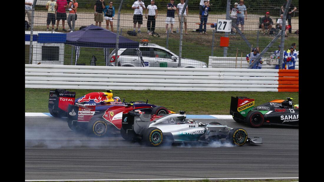 Formel 1 - Saison 2014 - GP Deutschland - Hamilton - Mercedes - Räikkönen - Ferrari - Ricciardo - Red Bull - Perez - Force India